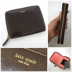Kate Spade brown leather zipped Blackberry case